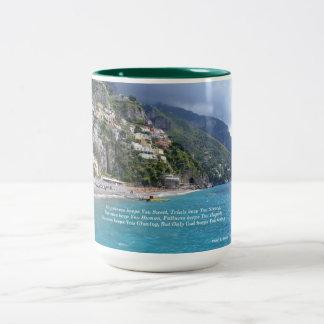 Positano, Italy Two-Tone Coffee Mug