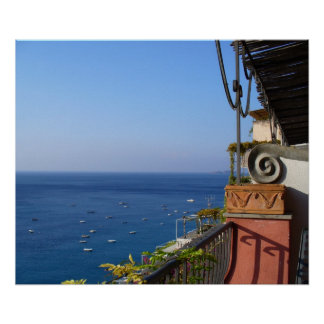Positano, Italy  View of the Mediterranean Poster