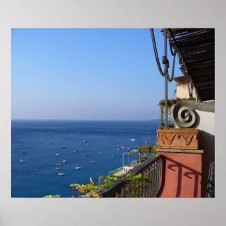 Positano, opinión de Italia del mediterráneo Impresiones