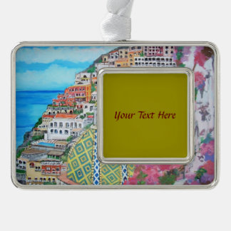 Positano - silver plated framed ornament
