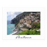 Positano village at the Amalfi coast postcard