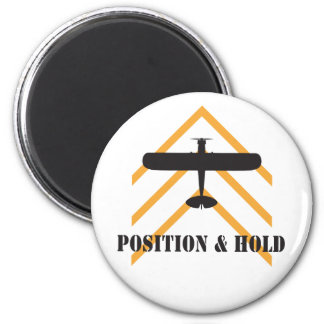 Position And Hold Airplane 2 Inch Round Magnet