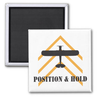 Position And Hold Airplane 2 Inch Square Magnet