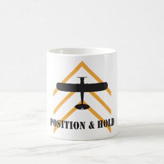 Position And Hold Airplane Coffee Mug