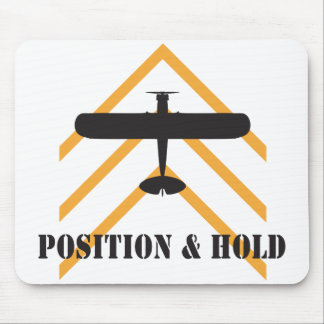Position And Hold Airplane Mouse Pad