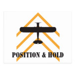 Position And Hold Airplane Postcards