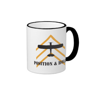 Position And Hold Airplane Ringer Mug