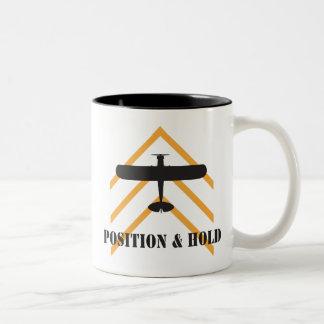 Position And Hold Airplane Two-Tone Coffee Mug
