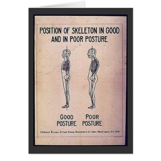 Position Of Skeleton In Good And In Poor Posture Card