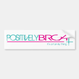 Positivamente pegatina para el parachoques de BRCA Pegatina Para Auto