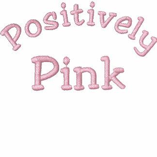 Positivamente rosa - cáncer de pecho sudadera con serigrafia