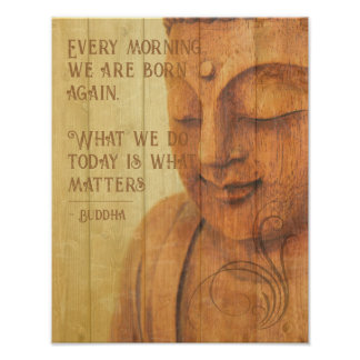 Positive Affirmation Buddhism Mindfulness Quote Poster