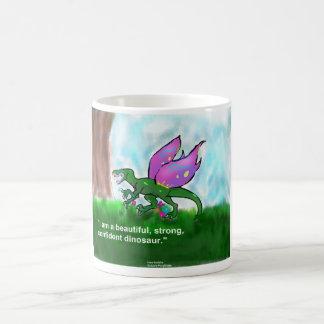 Positive Affirmation Dinosaur Mugs