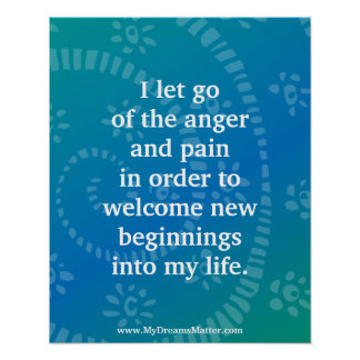 Positive Affirmation Forgiveness Anger Management Poster