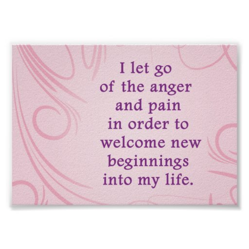 Positive Affirmation Forgiveness Valentines Day Poster