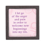 Positive Affirmation Letting Go Of Pain And Anger Premium Trinket Boxes