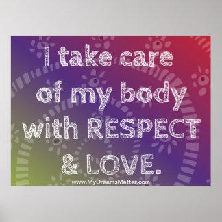 Positive Affirmation Manifest Perfect Body Health Print