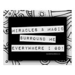 Positive Affirmation Miracles Magic Color Me DIY Poster