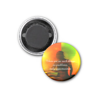 Positive Affirmation motivation about challenges 1 Inch Round Magnet