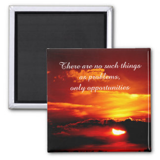Positive Affirmation motivation about challenges 2 Inch Square Magnet