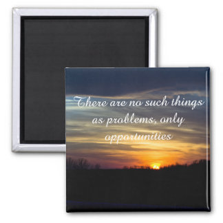 Positive Affirmation motivation about challenges Magnet