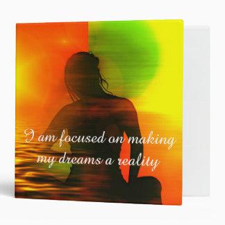 Positive Affirmation motivation about Dreams 3 Ring Binder