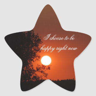 Positive Affirmation motivation about hapiness Star Sticker