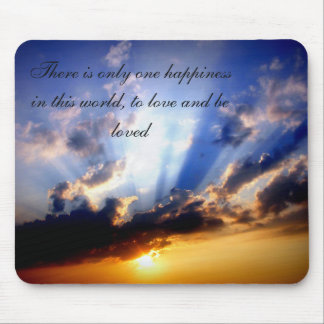 Positive Affirmation motivation about happiness Mouse Pad