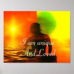 Positive Affirmation motivation about self esteem Poster