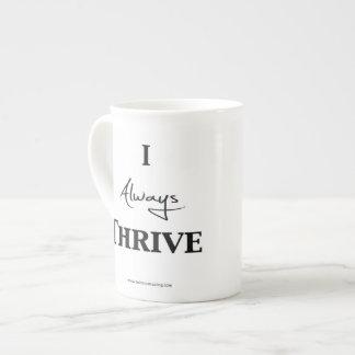 Positive Affirmation Mug - I Always Thrive Bone China Mug