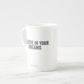 Positive Affirmation Mugs - Believe Bone China Mug