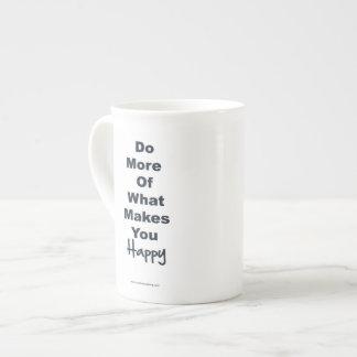 Positive Affirmation Mugs - Happiness Bone China Mugs