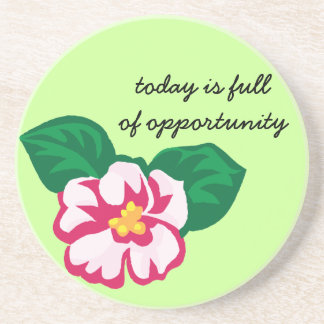 Positive Affirmation: Today is Full of Opportunity Drink Coaster
