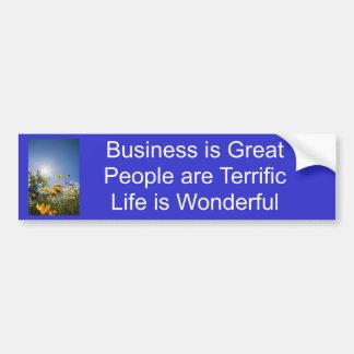 Positive Affirmations - Bold Bumper Sticker