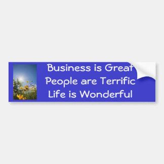 Positive Affirmations Bumper Sticker