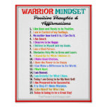 Positive Affirmations Poster - Warrior Mindset