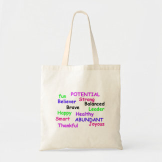 Positive Affirmations Tote Canvas Bags