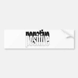 Positive And Negative Bumper Sticker