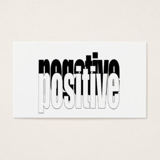 Positive And Negative Business Card