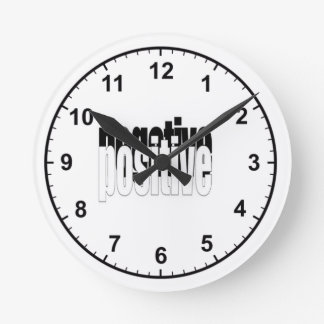 Positive And Negative Round Wall Clocks