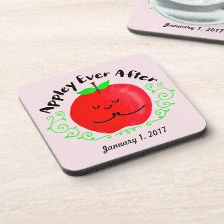 Positive Apple Pun - Appley Ever After Coaster
