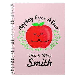 Positive Apple Pun - Appley Ever After Notebook