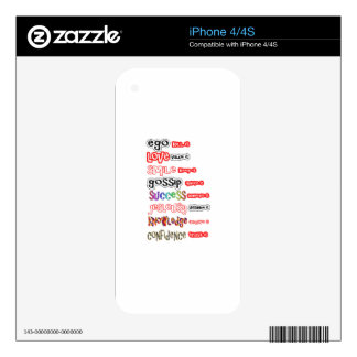 Positive Assets and Negative Liabilities Skins For The iPhone 4