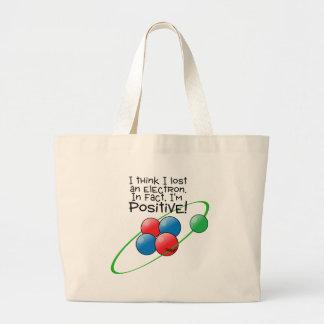 Positive Atom Canvas Bag