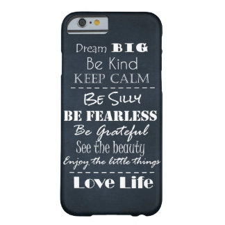 Positive Attitude Affirmations Quotes Barely There iPhone 6 Case