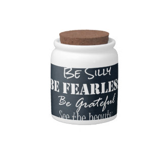 Positive Attitude Affirmations Quotes Candy Jar