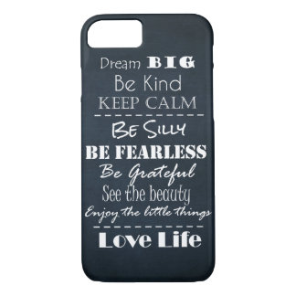 Positive Attitude Affirmations Quotes iPhone 7 Case