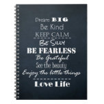 Positive Attitude Affirmations Quotes Spiral Note Book