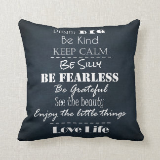 Positive Attitude Affirmations Quotes Throw Pillow