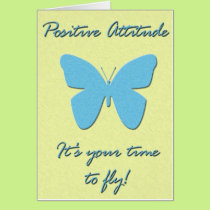 Positive Attitude Butterfly Card